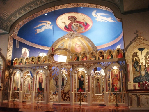 Another view of icon screen and icons created by Rev. Theodore Koufos of Toronto, Canada