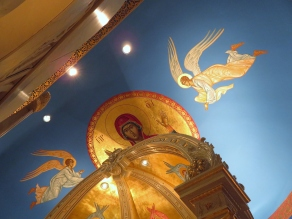 Church Interior 021 - View of ceiling from inside Sanctuary
