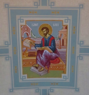 Ceiling Icon of Gospel Writer Luke