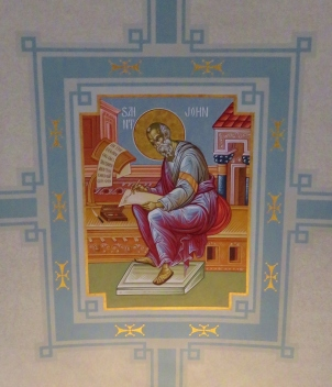 Ceiling Icon of Gospel Writer John