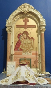 Church Interior 077 - Altar of Preparation - Mother of Sorrows