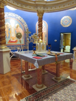 Another view of the Holy Table and Tabernacle