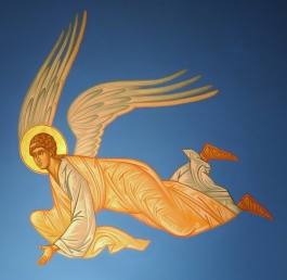 Another of the angel icons. Angels are first mentioned in the Old Testament.