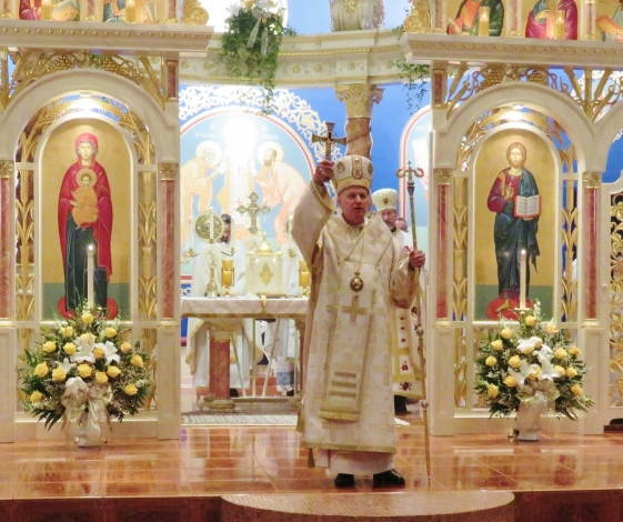 Bishop Kurt bestows the final blessing upon all present and upon St. Michael's Church