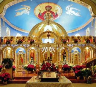View of Iconostasis at St. Michael's, Pittston
