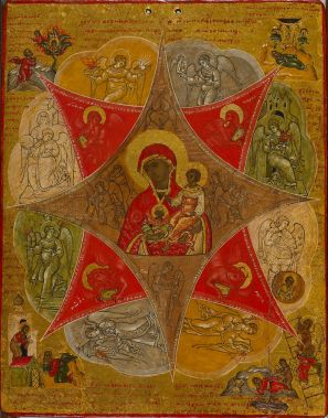 Icon of the Theotokos of the Unburnt Bush