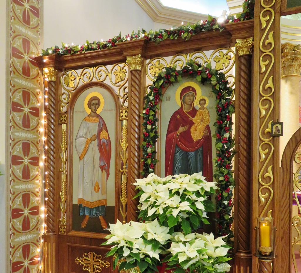 Portion of Icon Screen - Christmas - St. Nicholas Church